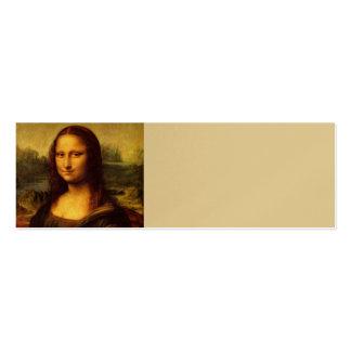 Leonardo da Vinci Mona Lisa Tarjetas De Visita Mini