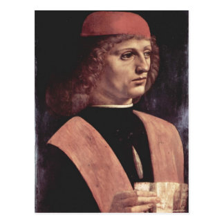 ¿Leonardo da Vinci Portr eines Musikers Italiano Postal