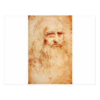 Leonardo da Vinci, uno mismo-retrato pretendido Postal