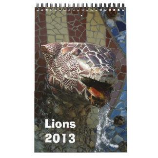Leones en el calendario 2013 de la arquitectura