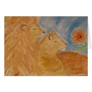 leones tarjeta de felicitación