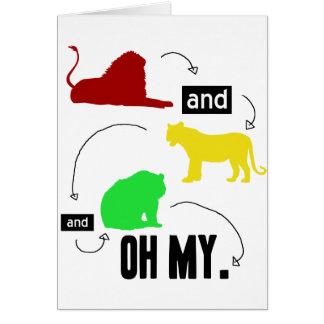 leones y tigres y osos OH MI tarjeta
