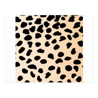 Leopard animal print postal