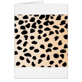 Leopard animal print tarjeta de felicitación