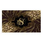 Leopardo animal del ante de la cebra de las tarjet plantillas de tarjetas personales