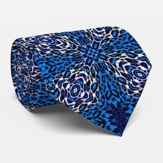 Leopardo azul fluorescente corbata