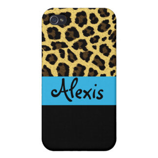 Leopardo azul iPhone 4/4S carcasa
