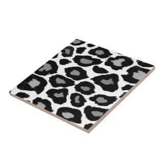Azulejos leopardo for Azulejo a cuadros blanco y negro barato