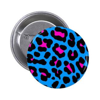Leopardo del azul del vintage del tigre 80s de Cor Pins
