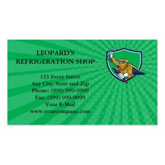 Leopardo del mecánico de la refrigeración de la tarjetas de visita