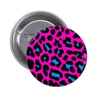 Leopardo del rosa del vintage del tigre 80s de chapa redonda de 5 cm