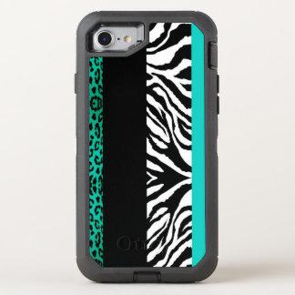 Leopardo del trullo y estampado de animales de la funda OtterBox defender para iPhone 7