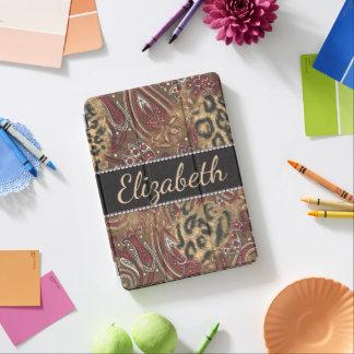 Leopardo e impresión del diseño de Paisley a Cubierta Para iPad Pro