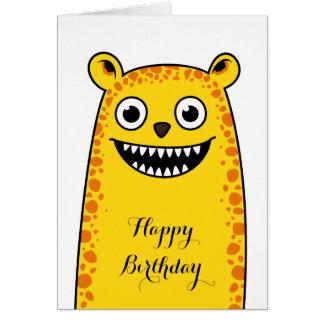 Leopardo feliz tarjeta de felicitación