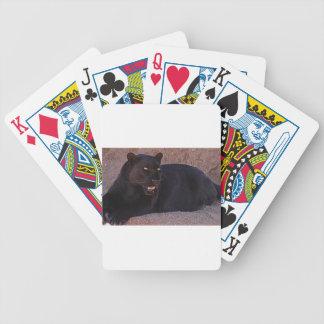 Leopardo negro baraja de cartas bicycle
