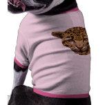 Leopardo nublado camisa de perrito