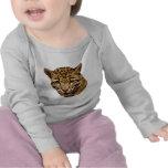 Leopardo nublado camisetas