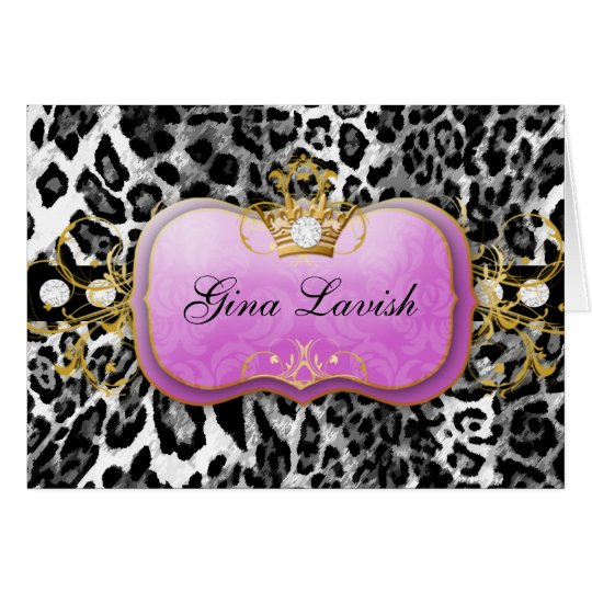 leopardo púrpura 311-Lavish con los diamantes Tarjeta Pequeña