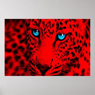 Leopardo retro del tigre 80s de Corey Impresiones