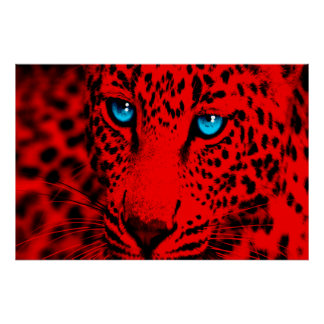 Leopardo retro del tigre 80s de Corey Póster