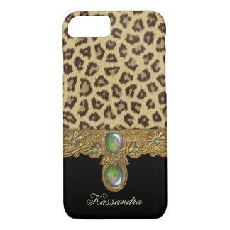 Leopardo salvaje de la elegancia funda iPhone 7