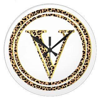Leopardo V Reloj Redondo Grande