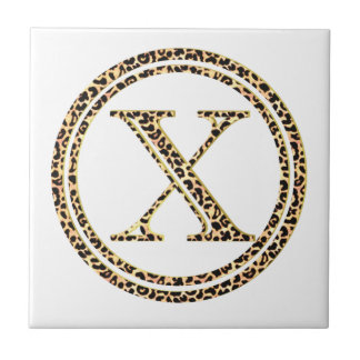 Leopardo X Azulejo De Cerámica