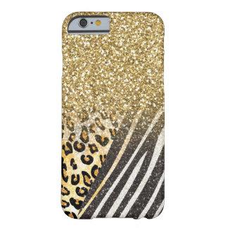 Leopardo y cebra de moda femeninos impresionantes funda para iPhone 6 barely there