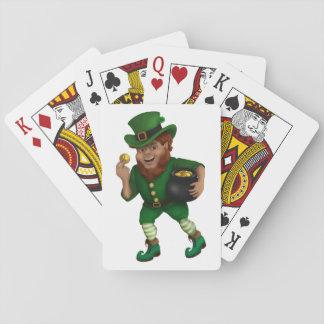 Leprechaun afortunado del día de St Patrick s Barajas De Cartas