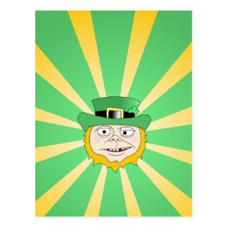 Leprechaun borracho postal