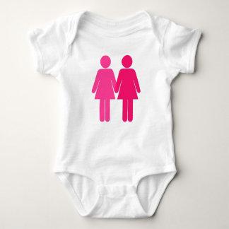 Lesbianas rosadas body para bebé