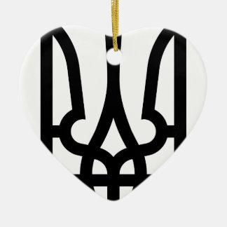 Lesser_Coat_of_Arms_of_Ukraine_ (bw) Adorno De Cerámica