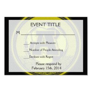 Letra A del monograma del fútbol de la medalla de Invitación 8,9 X 12,7 Cm