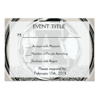 Letra A del monograma del fútbol del medallista de Invitación 8,9 X 12,7 Cm