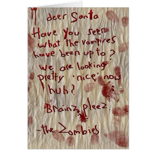 letra a santa tarjeta de felicitación