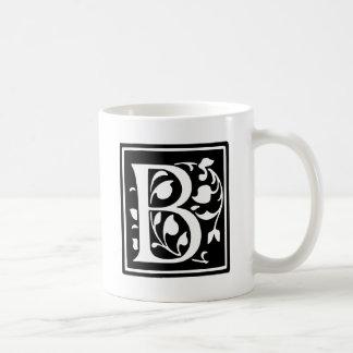 Letra adornada B de la tipografía Taza De Café