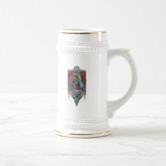 Letra adornada una impresión del monograma tazas de café