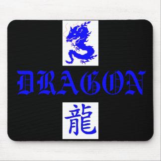 Letra azul Mousepad de Asain del dragón