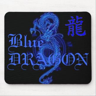 Letra azul Mousepad del dragón del kanji