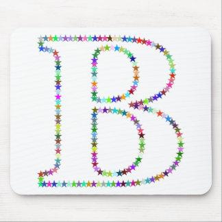 Letra B de la estrella del arco iris Alfombrilla De Ratón