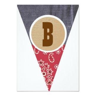 Letra B del banderín del vaquero - Anuncios