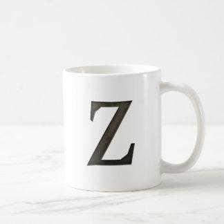 Letra concreta Z del monograma Taza