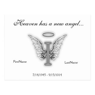 Letra conmemorativa I del tributo del monograma Tarjeta Postal