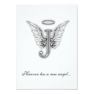 Letra conmemorativa J del tributo del monograma Invitación 12,7 X 17,8 Cm