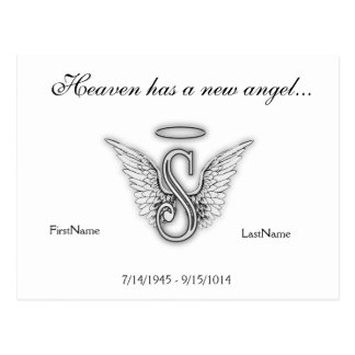 Letra conmemorativa S del tributo del monograma Postal