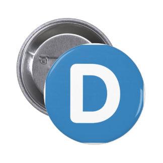 Letra D - gorjeo del emoji Pins
