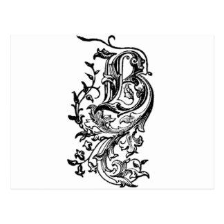 Letra decorativa de B Postales