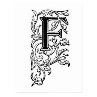 Letra decorativa de F Postales