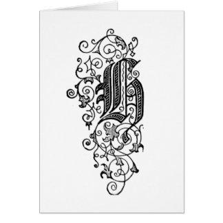 Letra decorativa de H Felicitacion