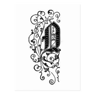 Letra decorativa de Q Postal